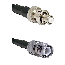 SHV Plug on RG58C/U to TNC Reverse Polarity Female Cable Assembly