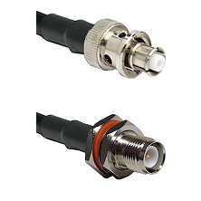 SHV Plug on RG58C/U to TNC Reverse Polarity Female Bulkhead Cable Assembly