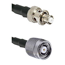 SHV Plug on RG58C/U to TNC Reverse Polarity Male Cable Assembly