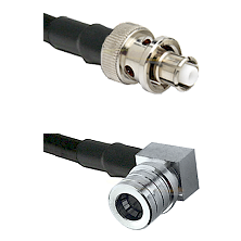 SHV Plug on RG58C/U to QMA Right Angle Male Cable Assembly