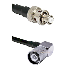 SHV Plug on RG58 to SC Right Angle Male Cable Assembly