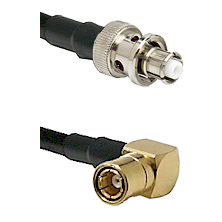 SHV Plug on RG58C/U to SMB Right Angle Female Cable Assembly