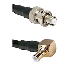 SHV Plug on RG58C/U to SMB Right Angle Male Cable Assembly