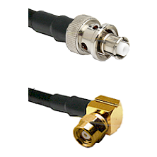 SHV Plug on RG58C/U to SMC Right Angle Female Cable Assembly