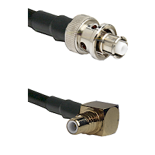 SHV Plug on RG58C/U to SMC Right Angle Male Cable Assembly