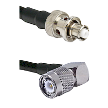 SHV Plug on RG58C/U to TNC Right Angle Male Cable Assembly