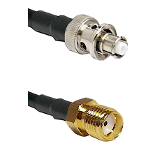 SHV Plug on RG58C/U to SMA Reverse Thread Female Cable Assembly