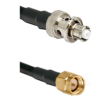 SHV Plug on RG58C/U to SMA Reverse Thread Male Cable Assembly