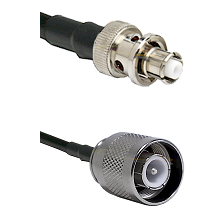 SHV Plug on RG58 to SC Male Cable Assembly
