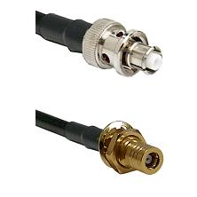 SHV Plug on RG58C/U to SLB Female Bulkhead Cable Assembly