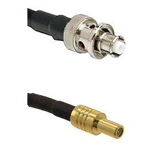 SHV Plug on RG58C/U to SLB Male Cable Assembly