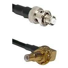 SHV Plug on RG58C/U to SLB Male Bulkhead Cable Assembly