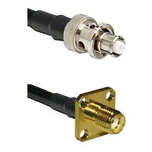 SHV Plug on RG58C/U to SMA 4 Hole Female Cable Assembly