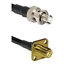 SHV Plug on RG58 to SMA 4 Hole Female Cable Assembly