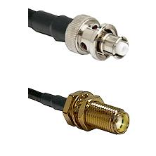 SHV Plug on RG58C/U to SMA Female Bulkhead Cable Assembly