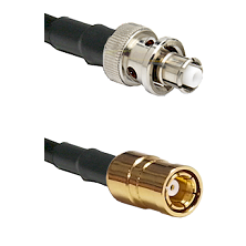 SHV Plug on RG58C/U to SMB Female Cable Assembly