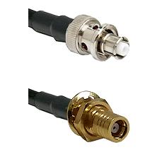 SHV Plug on RG58C/U to SMB Female Bulkhead Cable Assembly