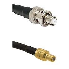 SHV Plug on RG58C/U to SMB Male Cable Assembly