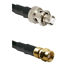 SHV Plug on RG58C/U to SMC Male Cable Assembly