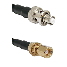 SHV Plug on RG58C/U to SMC Female Bulkhead Cable Assembly