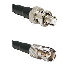 SHV Plug on RG58C/U to TNC Female Cable Assembly