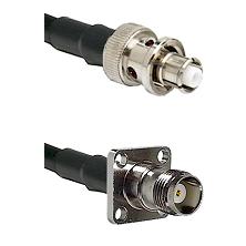 SHV Plug on RG58C/U to TNC 4 Hole Female Cable Assembly