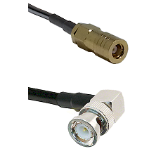 SLB Female on LMR100 to BNC Right Angle Male Cable Assembly