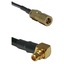 SLB Female on LMR100 to MMCX Right Angle Male Cable Assembly