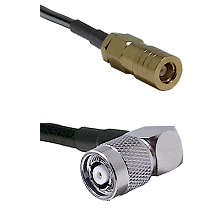 SLB Female on LMR100 to TNC Reverse Polarity Right Angle Male Cable Assembly