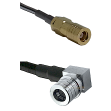 SLB Female on LMR100 to QMA Right Angle Male Cable Assembly