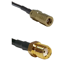 SLB Female on LMR100 to SMA Reverse Thread Female Cable Assembly