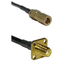 SLB Female on LMR100 to SMA 4 Hole Female Cable Assembly