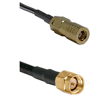 SLB Female on LMR100 to SMA Male Cable Assembly
