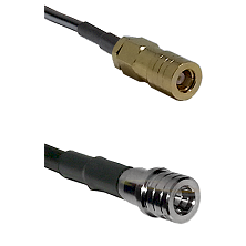 SLB Female on LMR-195-UF UltraFlex to QMA Male Cable Assembly