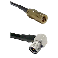 SLB Female on LMR-195-UF UltraFlex to Mini-UHF Right Angle Male Cable Assembly