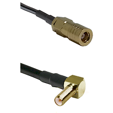 SLB Female on LMR-195-UF UltraFlex to SLB Right Angle Male Cable Assembly