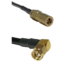 SLB Female on LMR-195-UF UltraFlex to SMA Right Angle Male Cable Assembly