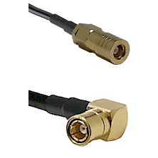 SLB Female on LMR-195-UF UltraFlex to SMB Right Angle Female Cable Assembly