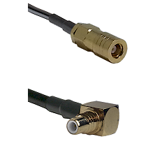 SLB Female on LMR-195-UF UltraFlex to SMC Right Angle Male Cable Assembly