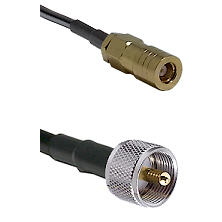SLB Female on LMR-195-UF UltraFlex to UHF Male Cable Assembly
