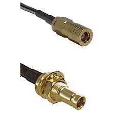 SLB Female on LMR200 UltraFlex to 10/23 Female Bulkhead Cable Assembly
