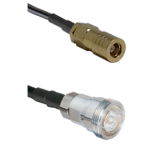 SLB Female on LMR200 UltraFlex to 7/16 Din Female Cable Assembly