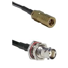 SLB Female on LMR200 UltraFlex to BNC Female Bulkhead Cable Assembly