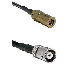 SLB Female on LMR200 UltraFlex to MHV Female Cable Assembly