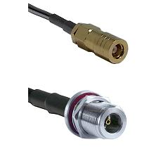 SLB Female on LMR200 UltraFlex to N Female Bulkhead Cable Assembly