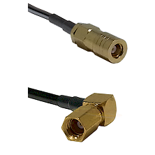 SLB Female on LMR200 to SSMC Right Angle Female Cable Assembly