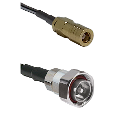 SLB Female on RG142 to 7/16 Din Male Cable Assembly