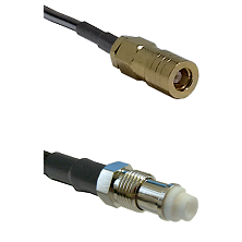 SLB Female on RG142 to FME Female Cable Assembly