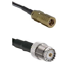SLB Female on RG142 to Mini-UHF Female Cable Assembly