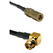 SLB Female on RG188 to SMC Right Angle Female Cable Assembly